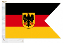 German Navy (Deutsche Marine) Ensign Courtesy Boat Flags (Roped and Toggled)